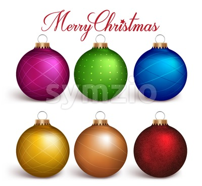 Colorful Christmas Balls Vector Decoration Stock Vector