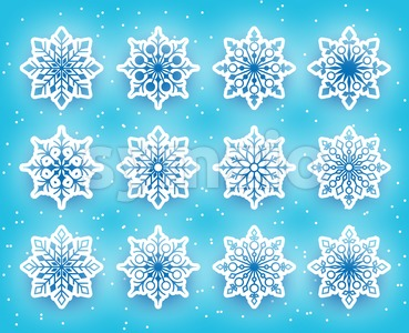 Vector Snowflakes Set for Winter Stock Vector