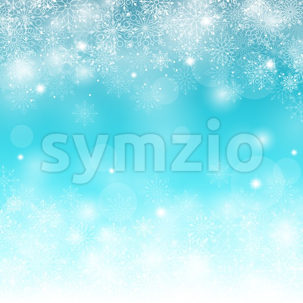 Blue Winter Snow Background Vector Stock Vector