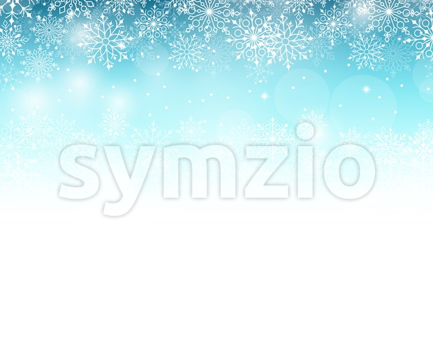 Vector Winter Background with Various Cold Blue Snowflakes Pattern Illustration. This winter vector was design with 3D realistic looks and rich in details ...