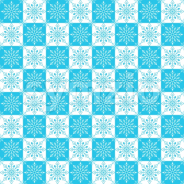 Winter Snow Flakes Background Pattern in Vector Stock Vector