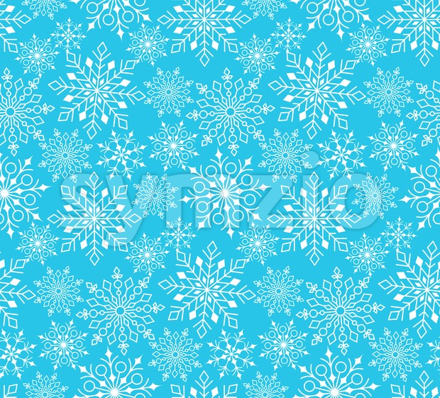 Seamless Winter Snow Pattern in Vector Stock Vector
