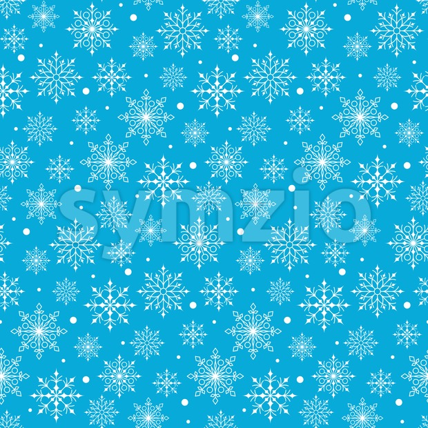 Vector Snow Flakes Background Pattern Stock Vector