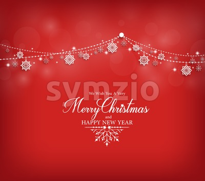 Merry Christmas Greetings Card Design Vector Stock Vector
