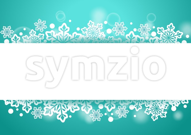 Winter Christmas Background of Snow Vector Stock Vector