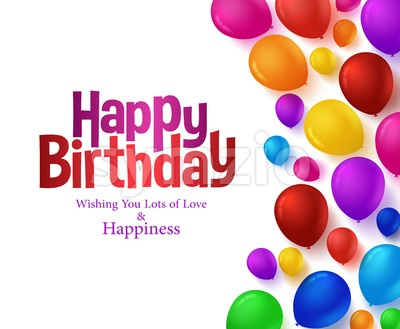 Happy Birthday Balloons Vector Background Stock Vector