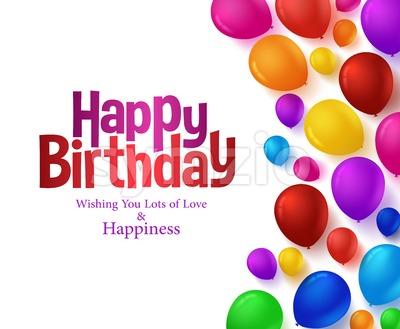 Happy Birthday Balloons Vector Background Stock Vector