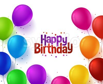 Vector Happy Birthday Balloons Background Stock Vector
