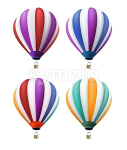 Set of Realistic Colorful Balloons Vector Stock Vector