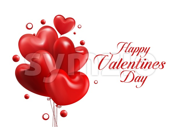 Sweet Balloon Hearts Vector Illustration Stock Vector