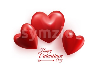Valentines Day Sweet Heart Vector Illustration Stock Vector