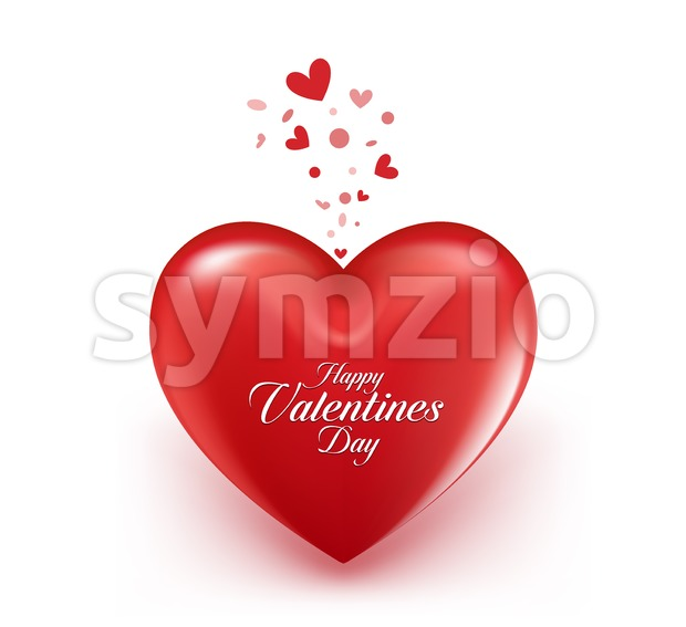 Valentines Day Heart Balloon Vector Stock Vector