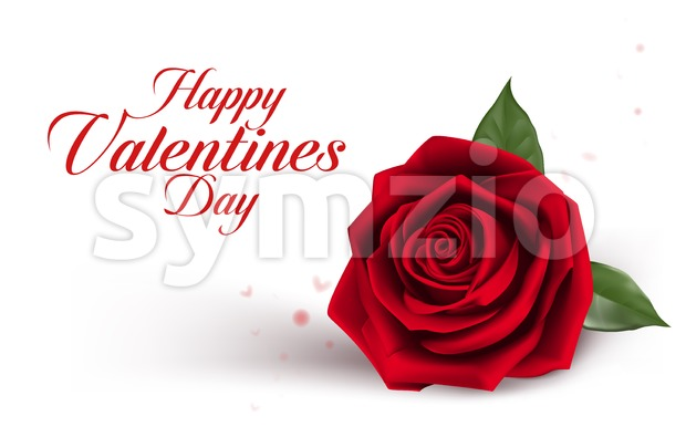 Valentines Day Background with Roses Vector Stock Vector
