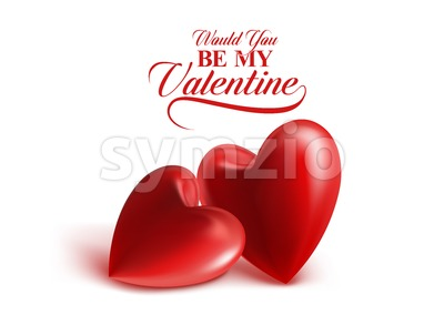 Valentines Day with Sweet Vector Balloon Hearts Stock Vector