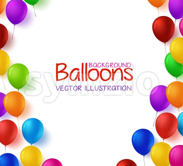Colorful Birthday Balloons Vector Background Stock Vector