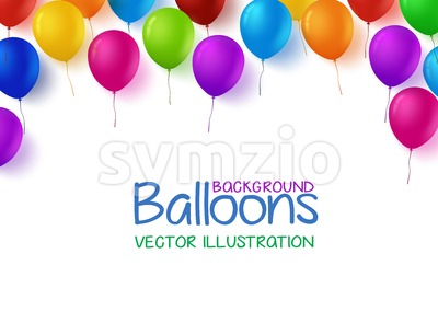 Birthday Balloons Vector Background Stock Vector